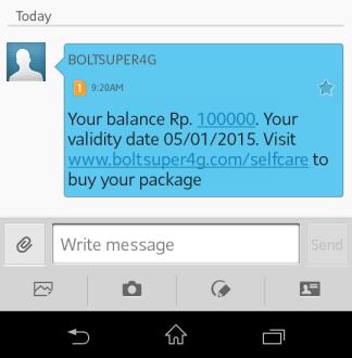 Selanjutnya masuk ke halaman Bolt yang tertera pada SMS. disini Bolt ...